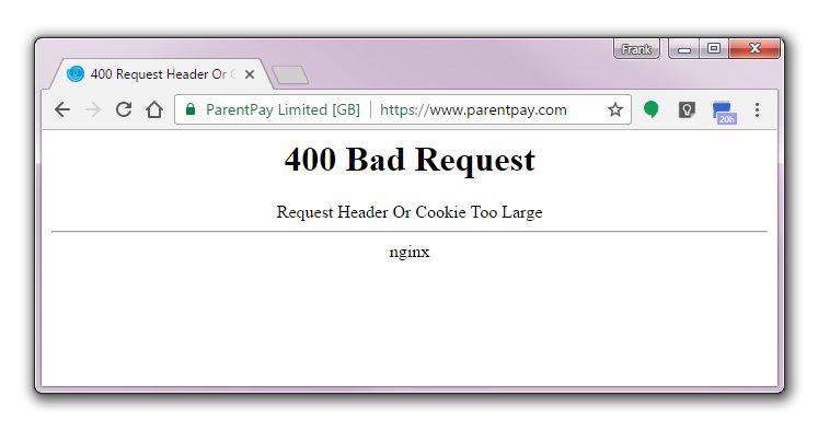 400 Bad Request